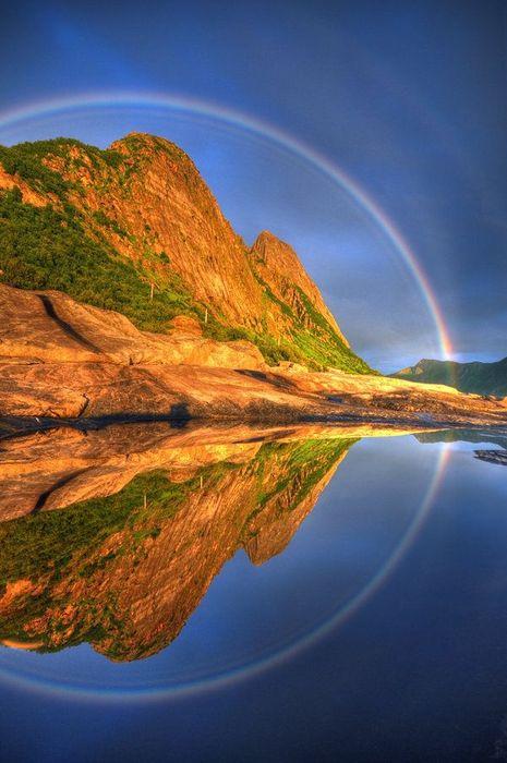 360 Reflected Rainbow, Senja, Troms, Norway